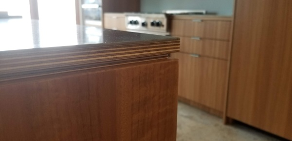 Stainless steel countertop