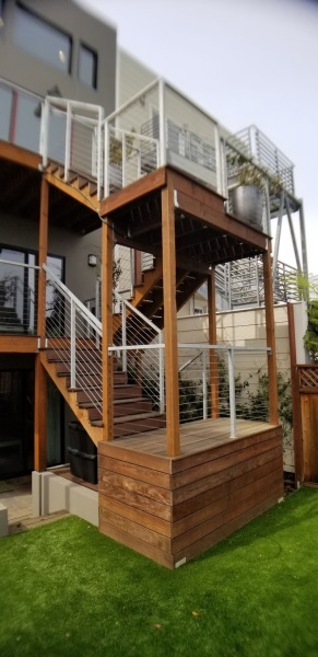 Rear deck and stairwell